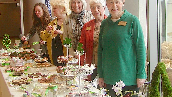 Auxiliary ladies preparing for the bake sale include, from left: Lisa Bertini, Yvonne Dunbar, Barbara Beson, Carol Arjo (founder of Anthony's Closet) and Barbara Meadows.