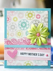 A handcrafted Mother's Day card by Melissa Lambino.