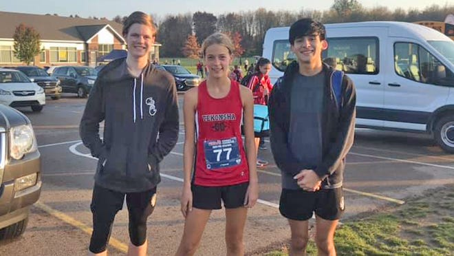 The Tekonsha trio of (from left) Alex Morgensai, Dani Van Lente and Marco Barron all advanced on to the regional meet thanks to their efforts at the pre-regional.