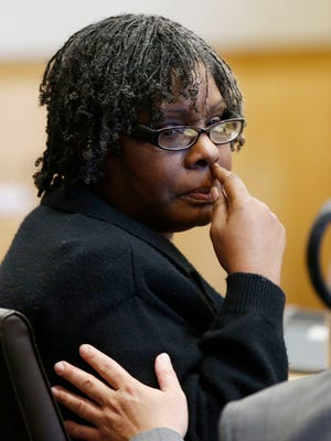 Jerice Hunter was convicted of killing and abusing her 5-year-old daughter on Monday, April 27, 2015 in Maricopa County Superior Court in Phoenix, AZ.