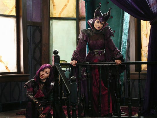 Dove Cameron, left, and Kristin Chenowith star as Mal