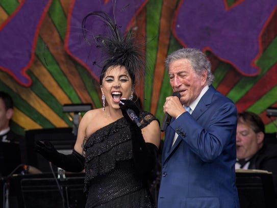 Lady Gaga (L) and Tony Bennett closed out the first
