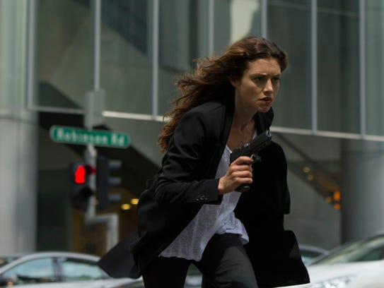 Hannah Ware in 'Hitman: Agent 47.' It's her first major