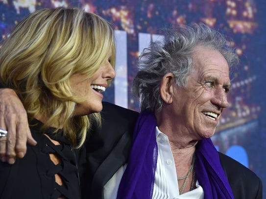 Patti Hansen, left, and musician Keith Richards in