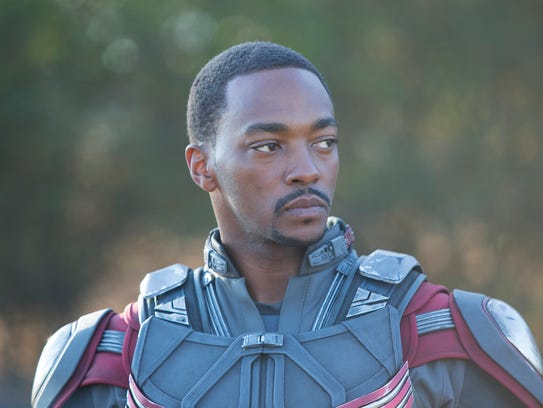 "Falcon (Anthony Mackie) makes an appearance in ""Ant-Man."""