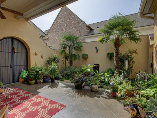A beautiful courtyard is perfect  for entertaining