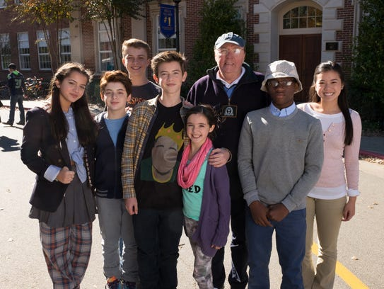 Members of the 'Middle School' cast: Isabela Moner,