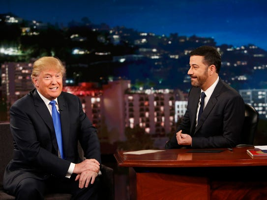 "Donald Trump appears on ""Jimmy Kimmel Live!"" on Dec."