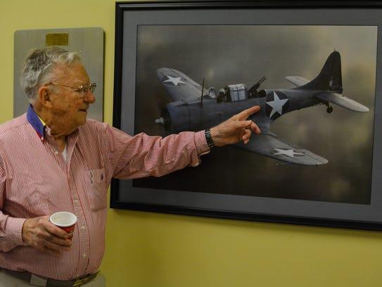 Hilliard served aboard a dive bomber in World War II.