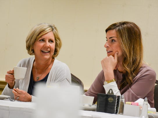 Nanette Cook, left, and Elizabeth Webb-Hebert will