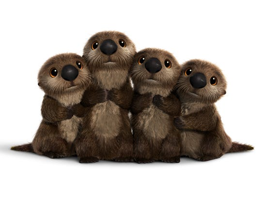 The otter babies from 'Finding Dory.'