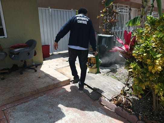 Giraldo Carratala, a mosquito-control inspector in