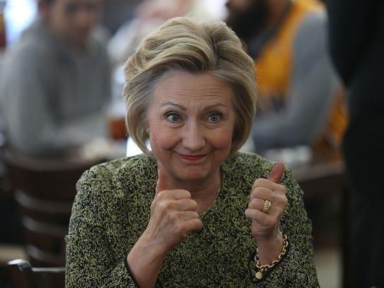 Hillary Clinton shows she can take a joke.