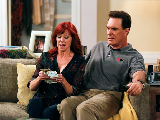 Carrie Preston, left, and Patrick Warburton, star in