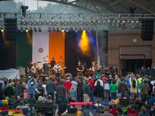 The band Skerryvore performed for the crowd at Irish
