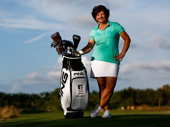 Former LPGA Tour player Gail Graham stands for a portrait