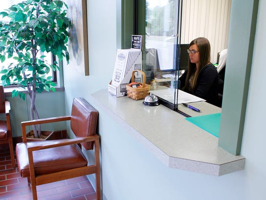 Brittney Moyer, the home health clerk at the Coshocton