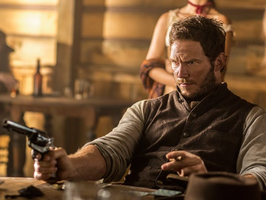 Chris Pratt plays a gunslinging gambler recruited to