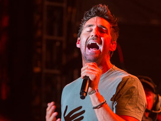 Jake Owen performs on stage during the 2015 Stagecoach