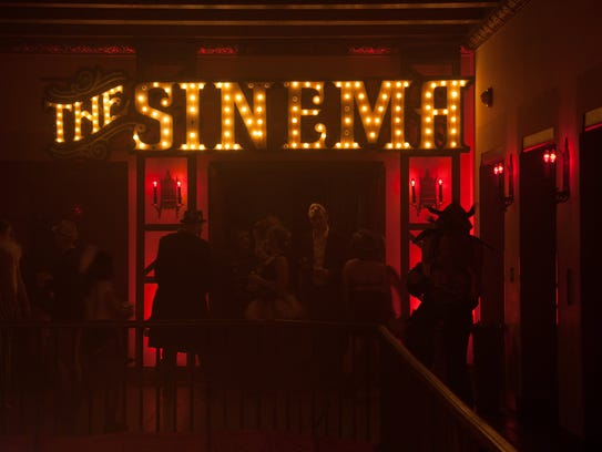 he Sinema plays a variety of vintage films during Theatre