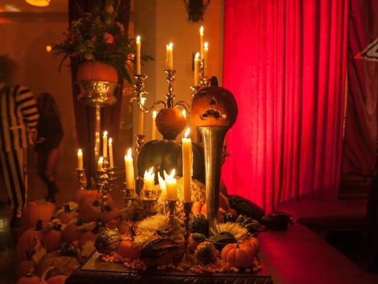 Thousands of pumpkins, jack-o'-lanterns and gourds