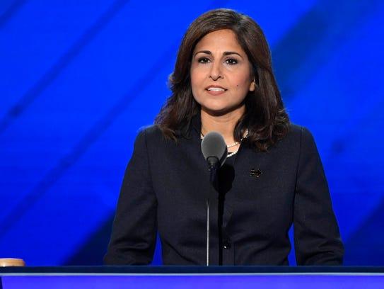 Neera Tanden speaks at the 2016 Democratic National