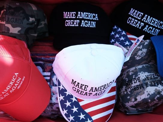 "Donald Trump's ""Make America Great Again"" hats are"