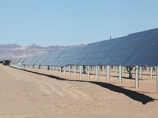 Sunlight shines on NextEra Energy Resources' 250-megawatt