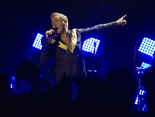 Morrissey performed at the Masonic Temple in Detroit