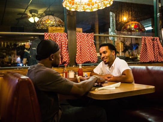 Trevante Rhodes and Andre Holland in the coming-of-age