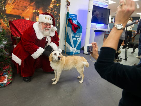 Local Pups Meet Santa