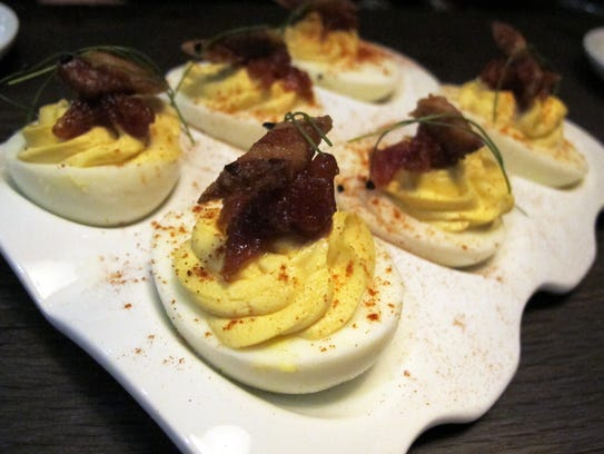 The bacon and eggs appetizer at Public House features