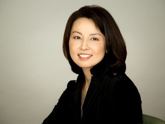 Guest conductor Akiko Fujimoto, one of five finalists