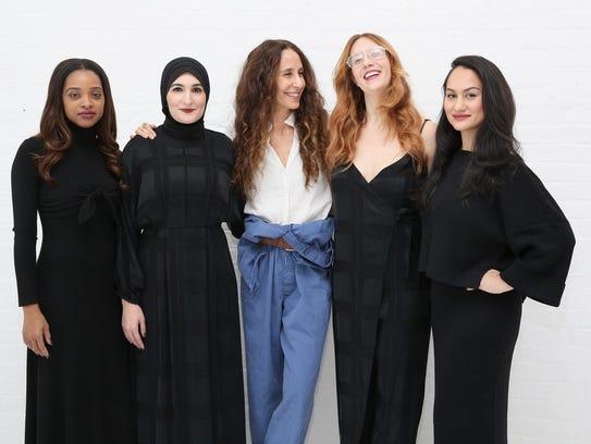 Tamika Mallory, Linda Sarsour, designer Mara Hoffman,