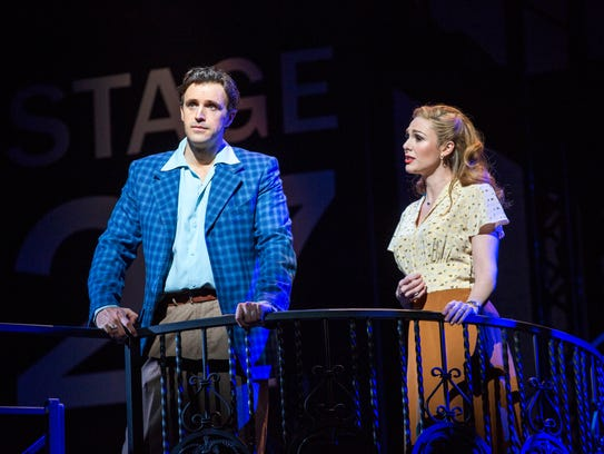 """Michael Xavier and Siobhan Dillon in """"Sunset Boulevard."""""""