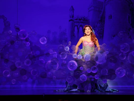 """Diana Huey as Ariel in the national tour of """"The Little"""