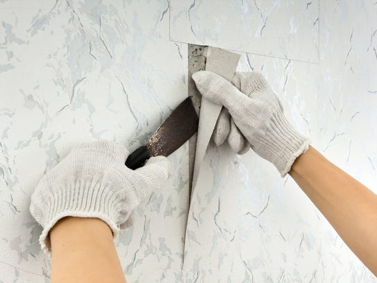 Remove old wallpaper to give your home an update before