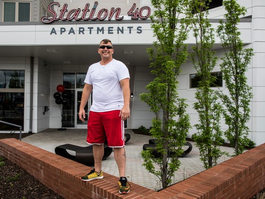 Steve Hansel lives at Station 40, the residential component