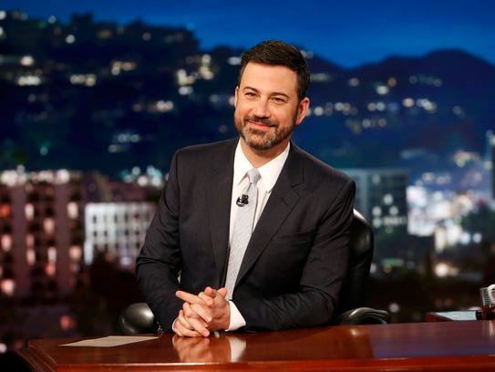 Jimmy Kimmel, seen here on the April 20 edition of
