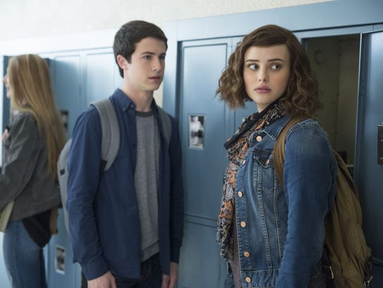 Clay (Dylan Minnette) and Hannah (Katherine Langford)