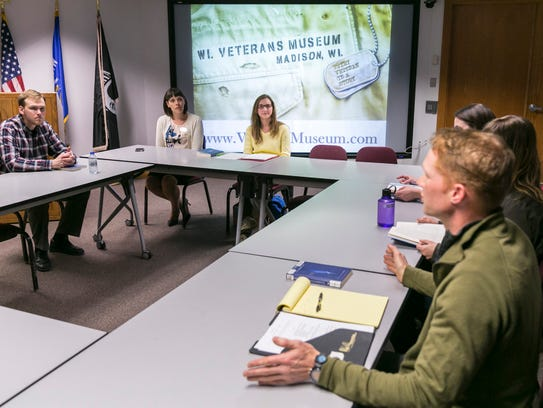 Erin Hoag (second from left) museum education specialist,