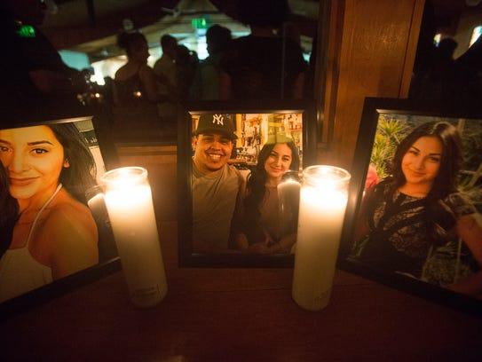 A photo of Audrey Moran and Jonathan Reynoso at a prayer