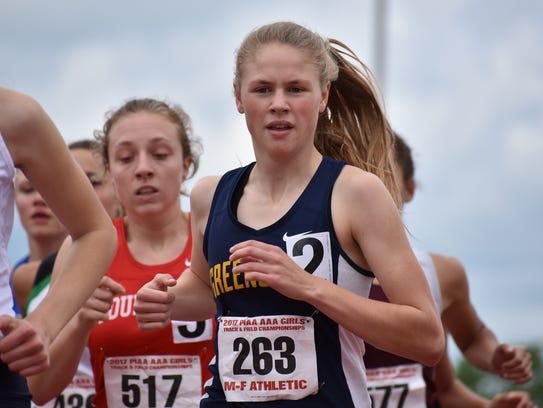 Greencastle-Antrim's Taryn Parks runs in the girls