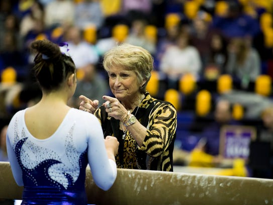 LSU gymnastics coach D-D Breaux is part of the 2017