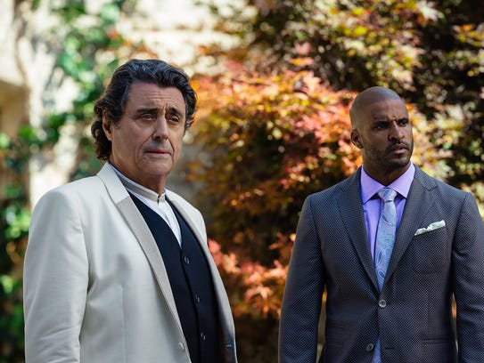Mr. Wednesday (left, Ian McShane) reveals his true