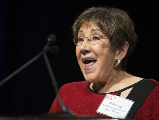 Shirley King, recipient of the Empowering Women Award,