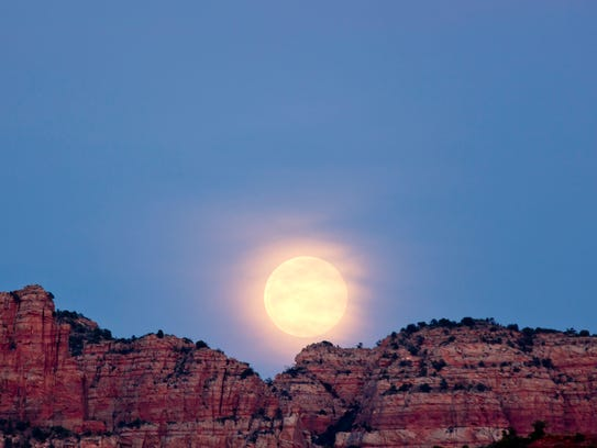 Ranger-led full moon hikes are conducted each month