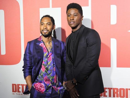 Actors Miguel Pimentel and Joseph David-Jones pose
