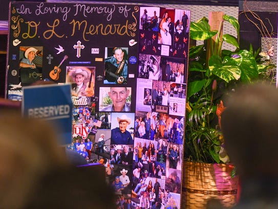 Friends and family say goodbye to D.L. Menard during