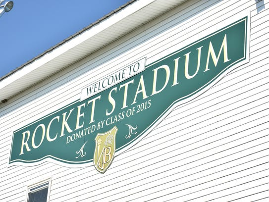 Rocket Stadium, home of the James Buchanan Rockets.